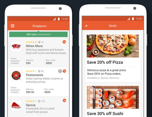 Foodpanda app screenshot