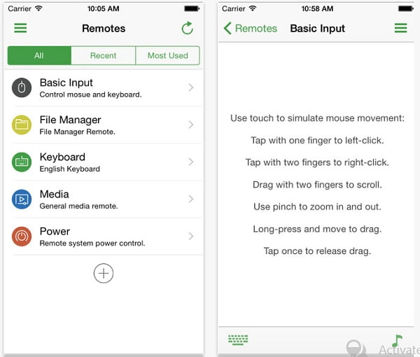Unified Remote fresh new ios app