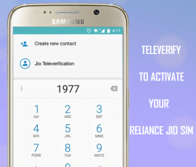 Reliance Jio Televerification Activation