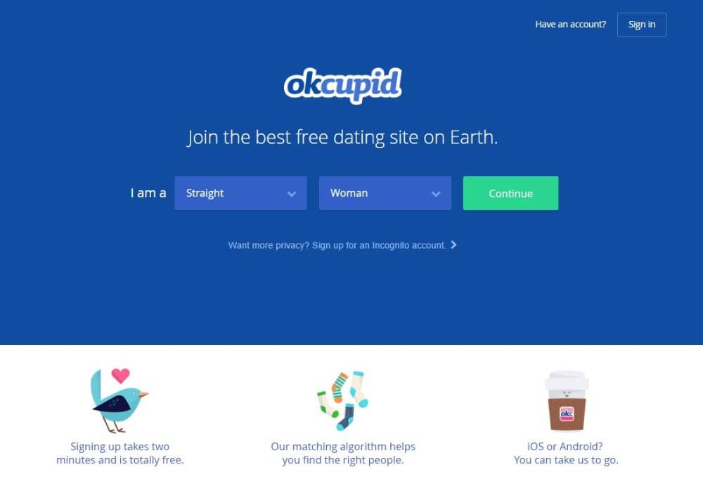 Social Media Websites - OkCupid