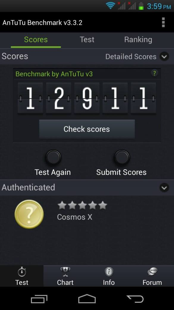 Cherry Mobile X Benchmarks