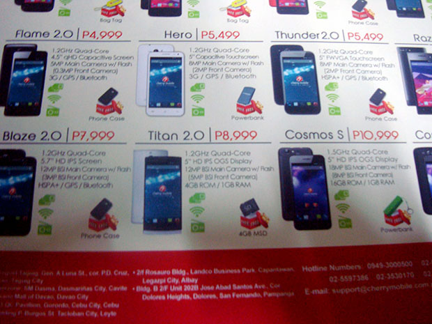 Leaked Cherry Mobile Sale