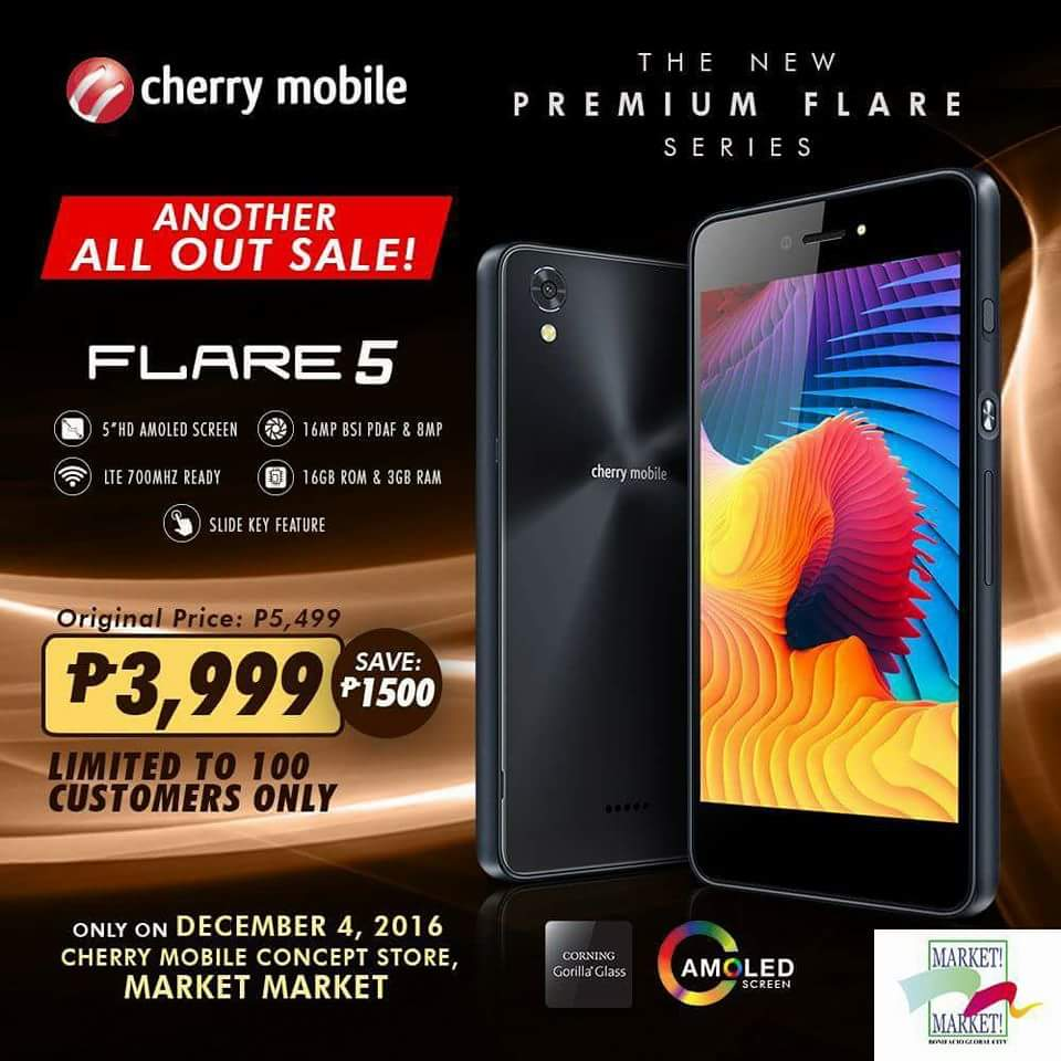 Get A Cherry Mobile Flare 5 For Only PhP 3999 On December