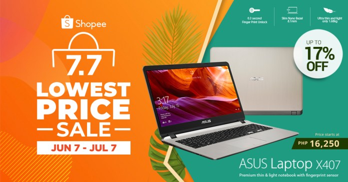 Shopee 7.7 Lowest Price Sale