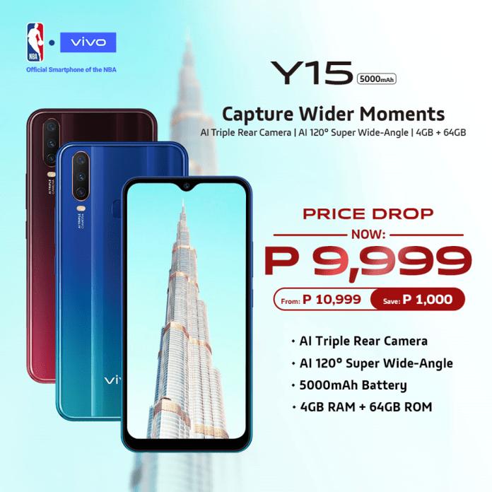 vivo y15, Vivo Y15 Gets a Price Drop, Now Priced at PhP9,999, Gadget Pilipinas, Gadget Pilipinas