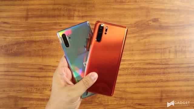 Huawei P30 Pro v Samsung Galaxy Note 10 8