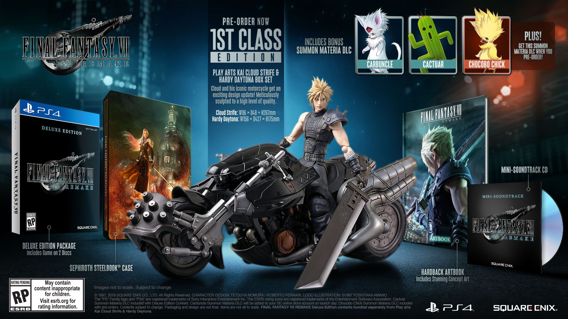 Final Fantasy 7 Remake Deluxe And 1st Class Editions Confirmed For