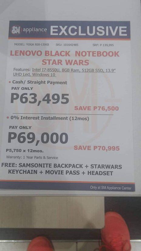 Lenovo Yoga 920 Sale Philippines