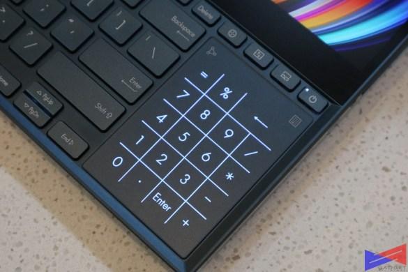 Zenbook Pro Duo UX581 Review Numpad