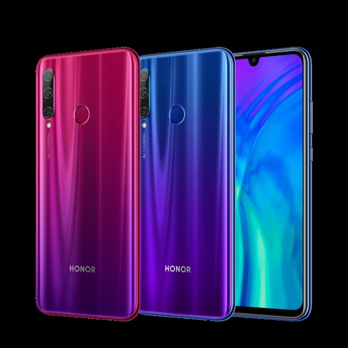HONOR 20 Lite Phantom Blue and Phantom Red