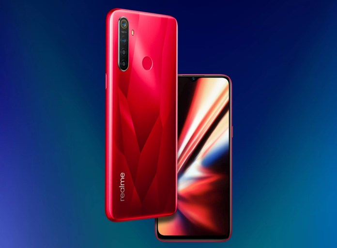 realme 5s front and back