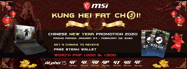 MSI Chinese New Year Promo, Get a Chance to Win Steam Wallet Credits with MSI's Chinese New Year Promo!, Gadget Pilipinas, Gadget Pilipinas