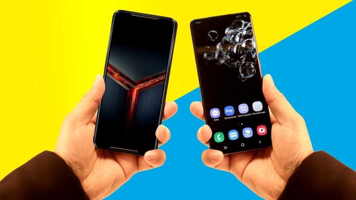 rog phone 2 vs galaxy s20 ultra compressed