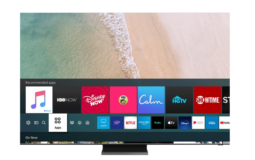 Samsung Smart TV Apple Music UI