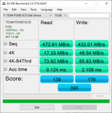 TeamGroup PD400 Review - AS SSD Benchmark 2