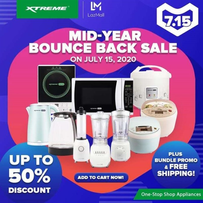 XTREME Appliances Lazada Mid-Year Bounce Back Sale