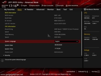 ROG Strix B550E Review - BIOS Advanced Mode