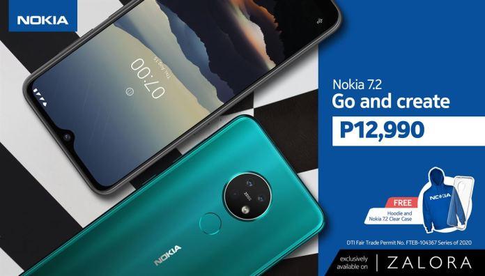 Nokia 7.2 price drop on Zalora_KV