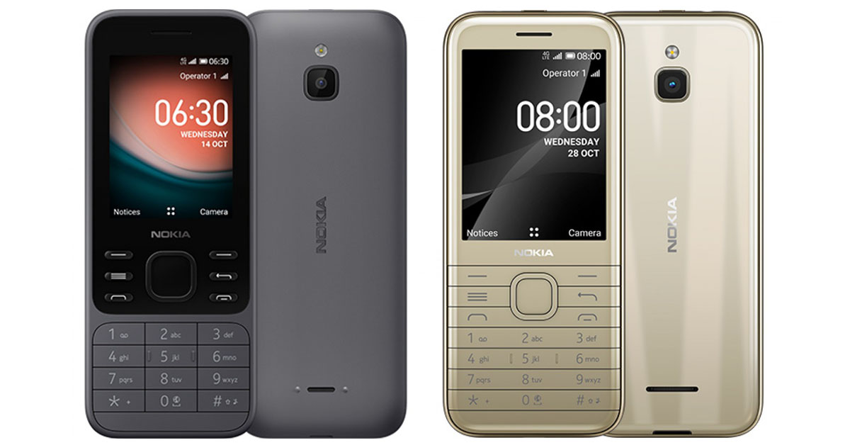 Nokia 6300 and 8000 4G