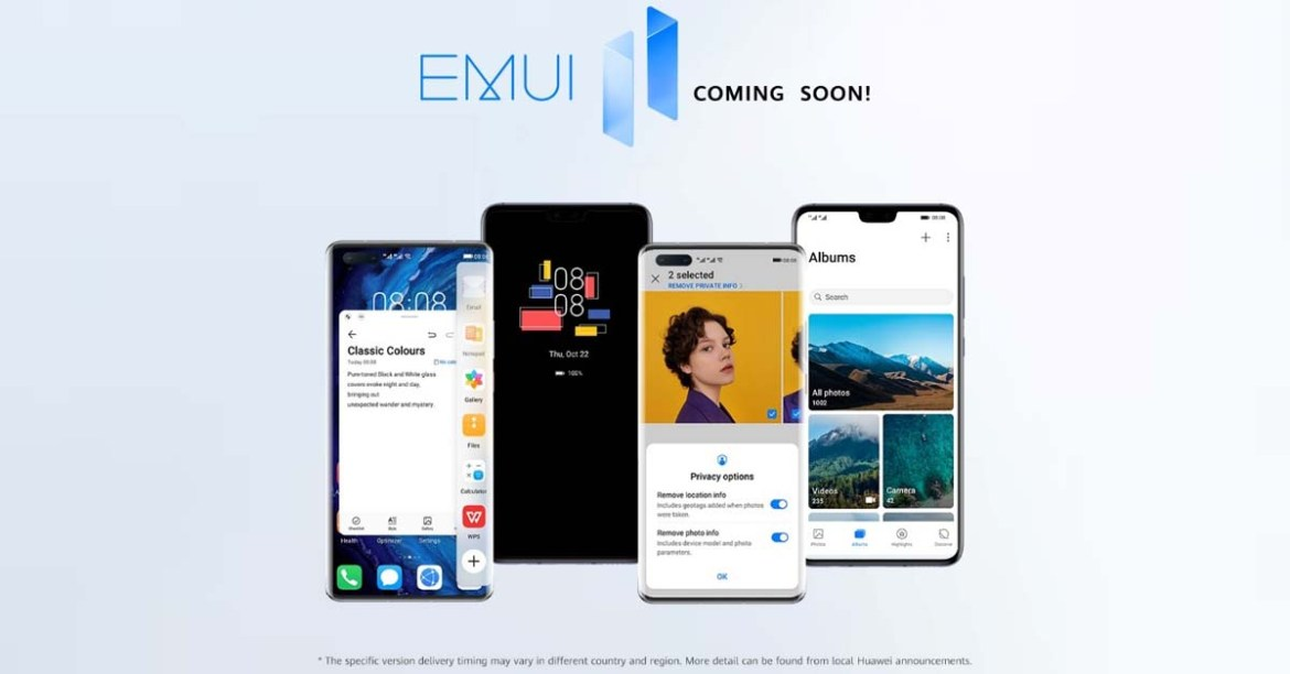 Huawei Announces EMUI 11 Rollout Schedule for PH