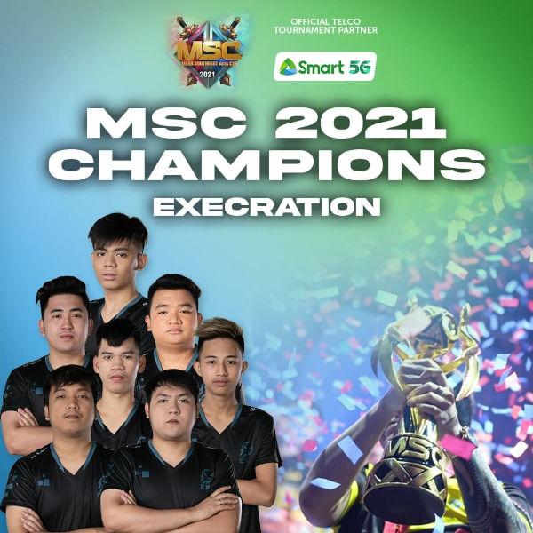 Smart lauds Execration MSC 2021 poster