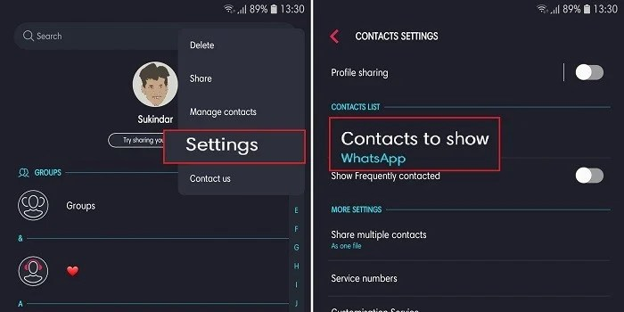 How to Delete Contacts on WhatsApp - Contact Settings