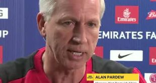 Alan Pardew reacts to West Bromwich Albion's training camp gone wrong...