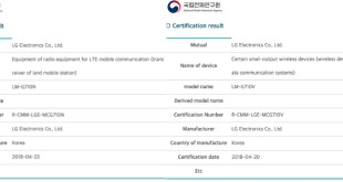 LG G7 ThinQ Press Renders Leaked; Spotted on South Korean Certification Website