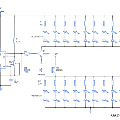 Led Light Circuit Diagram For Dummies Digital Ac Ammeter Attractive Lighting Gadgetronicx Ic555