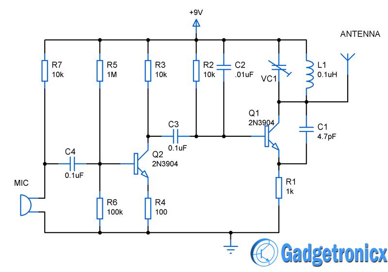 Mini FM Transmitter Circuit