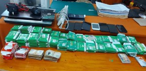 Fraudsters Nabbed With 600 SIM Cards, 96 IDs and Bank Agent Transaction Records