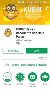 Kubik News Aplikasi Penghasil uang