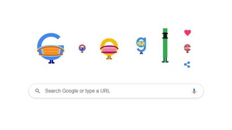 Google doodle ingatkan cara pencegahan covid-19