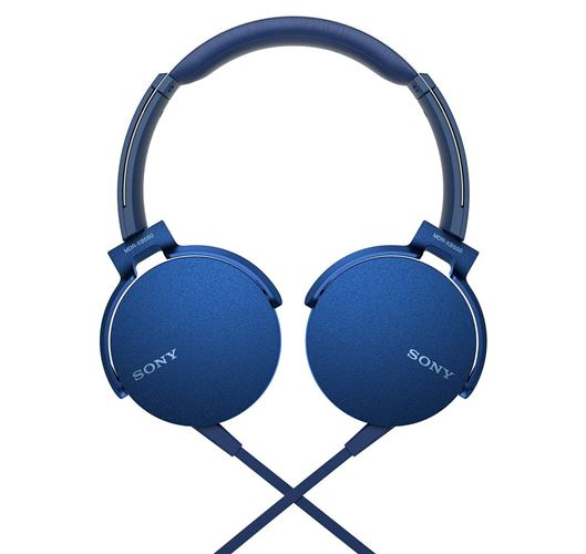 Sony MDR-XB550AP On-Ear Headphones with Mic