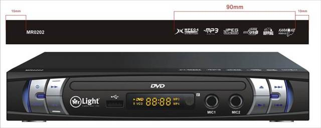 Mr Light 0202 DVD Player with Karaoke Review and Specifications