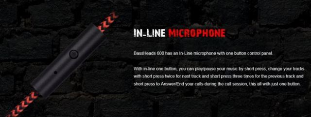 In-Line Microphone boAt Rockerz 600 Bluetooth Headphones