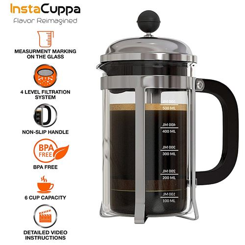 InstaCuppa French Press Coffee Maker