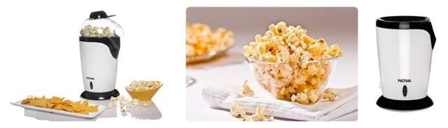 Nova Portable Popcorn Maker for Home Use