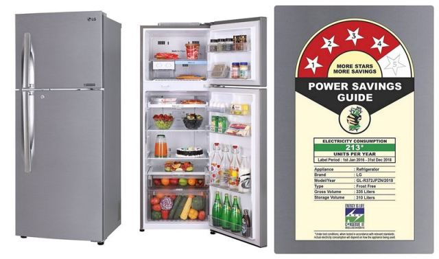 335L LG Frost-Free Double Door Refrigerator R372