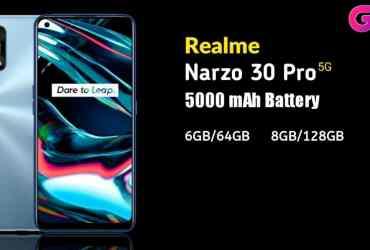 Realme Narzo 30 Pro 5G Specifications, Realme Narzo 30 Pro 5G price in india