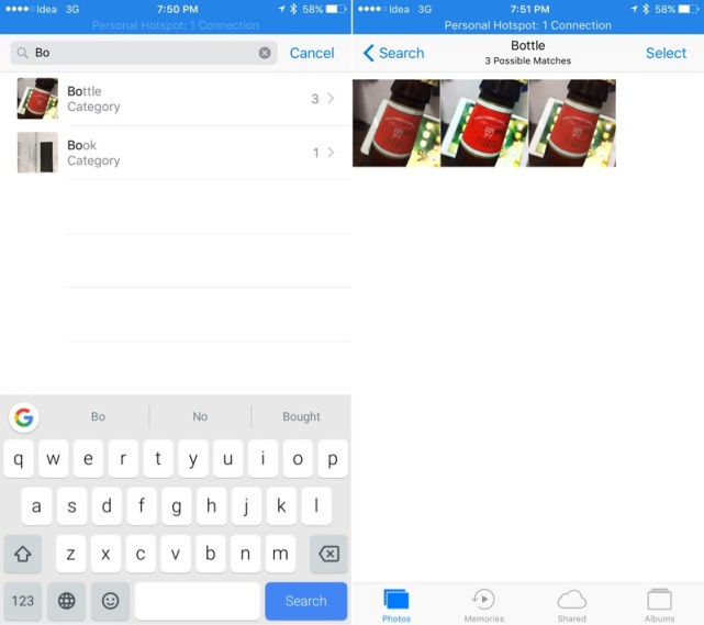 Search the Photo Easily on iOS 10