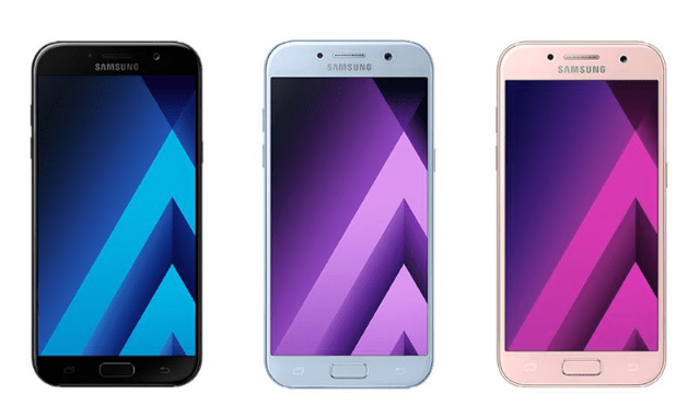 Samsung Galaxy A3 (2017), A5 (2017) and A7 (2017) water resistant smartphones announced