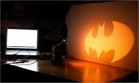 DIY uma lâmpada Batman