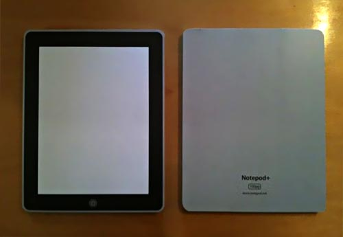 Notepod an iPad made with paper  Gadgetsin