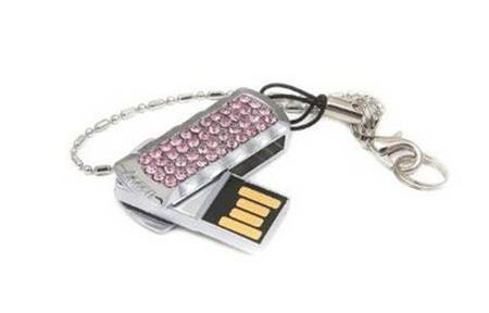 USB Flash Drives With Swarovski Crystals For Valentines