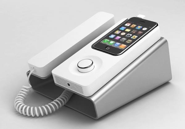 Desk Phone Dock Turns iPhone into Wired Telephone  Gadgetsin