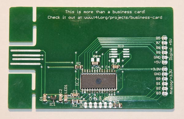 Circuit Board Digital Business Card  Gadgetsin