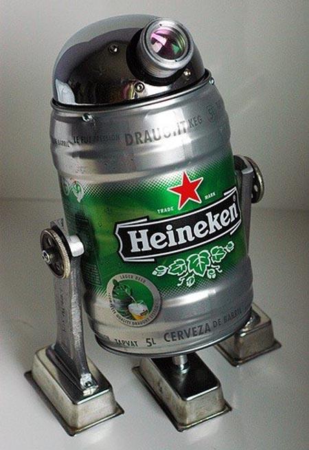 Heineken Star Wars R2D2 Robot  Gadgetsin