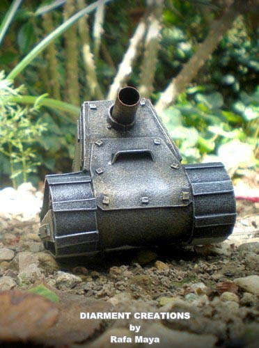 Steampunk Tiny Tank Model  Gadgetsin