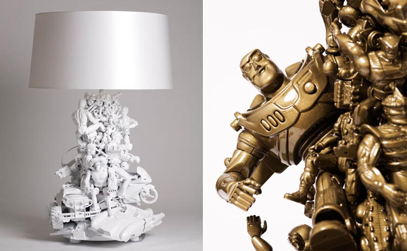 Toy Lamp Integrated Many Toys Figures by Ryan McElhinney